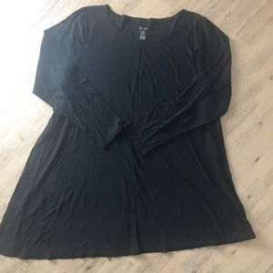 Soft Long Sleeve Asymmetrical Tunic
